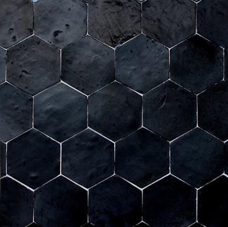 zellige hexagonal noir deco strasbourg