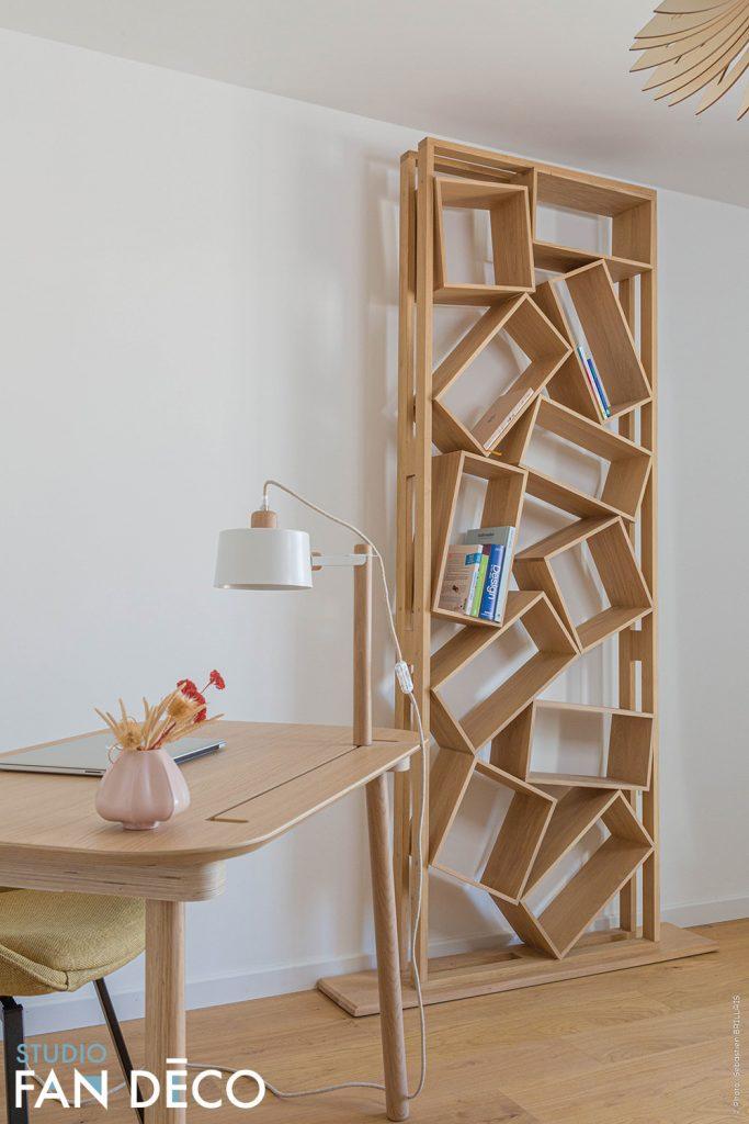 decoration eco responsable pour un bureau d'un appartement en location